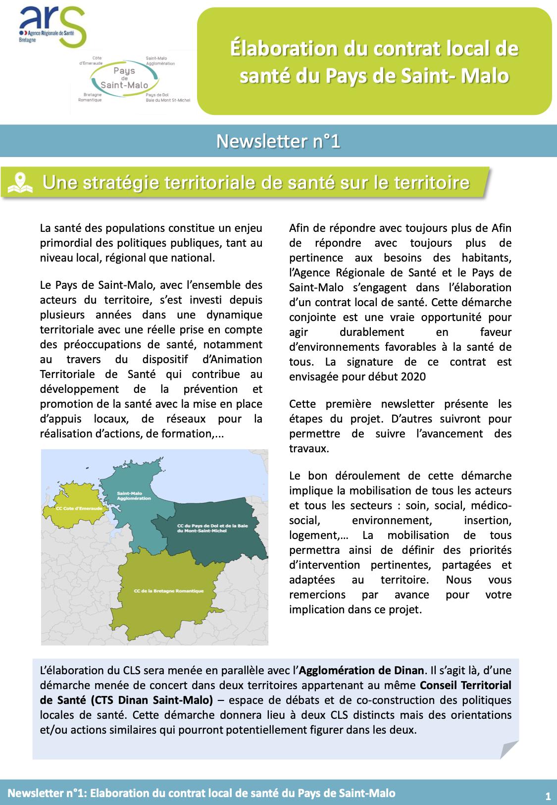 Du nouveau sur le contrat local de santé du Pays de Saint-Malo