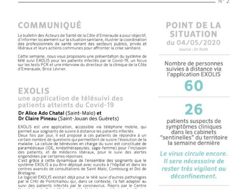 Le bulletin d'information COVID du 4 mai 2020 sur le territoire de la Côte d'Émeraude