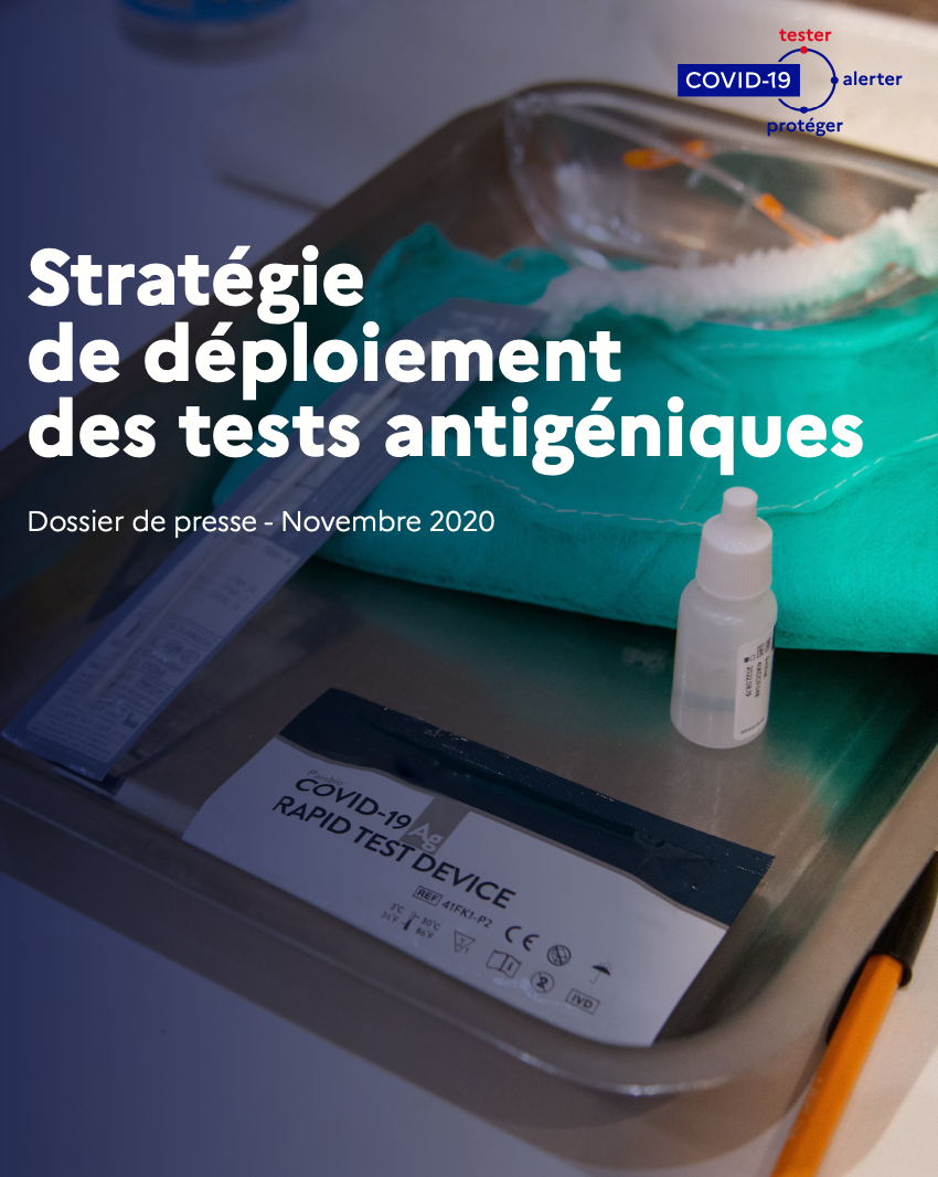 La stratégie de déploiement des tests antigéniques